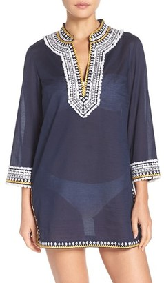 Women's Tory Burch Fringe Cover-Up Tunic $325 thestylecure.com