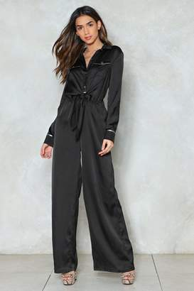 Nasty Gal Tie It Out Wide-Leg Jumpsuit
