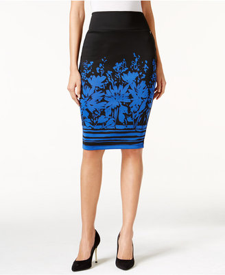 Thalia Sodi Printed Scuba Pencil Skirt, Only at Macy's $49.50 thestylecure.com