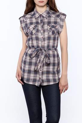Hazel Plaid Print Tunic Top