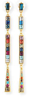 Sequin Rainbow Crystal Dangle Earrings