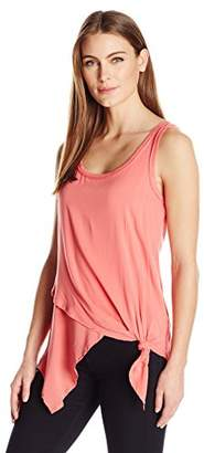 Democracy Women's Double Layered Asymmetric Hem Tank