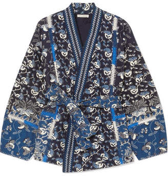 Ulla Johnson Sachi Quilted Printed Cotton-blend Jacket - Navy