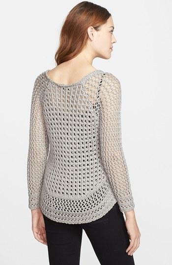 Lucky Brand 'Marissa' Metallic Sweater