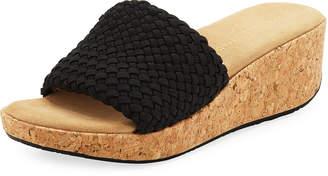 Adrienne Vittadini Davis Woven Platform Sandals