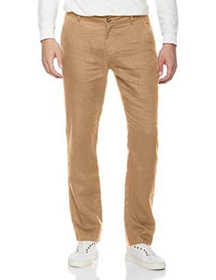 Isle Bay Linens Men's Summer 100% Linen Beach Waist Loose Pants