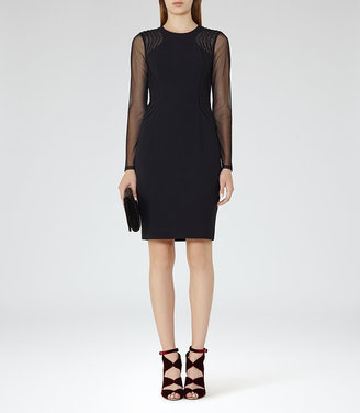 Robbi Mesh-Panel Cocktail Dress $370 thestylecure.com