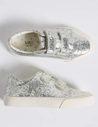 Marks and Spencer Kids Glitter Riptape Trainers (5 Small - 12 Small)