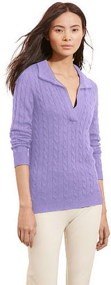 Ralph Lauren Cable-Knit Shawl Sweater $125 thestylecure.com