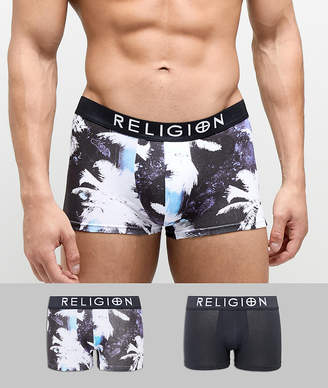 Religion 2 Pack Trunks With Palm Tree Print