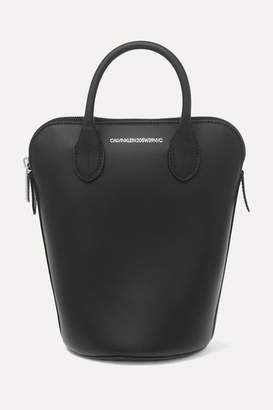 Calvin Klein Dalton Mini Leather Bucket Bag - Black