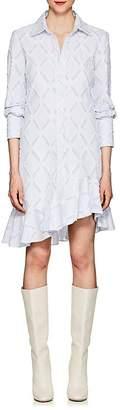 Derek Lam 10 Crosby Women's Striped Fil Coupé Cotton-Blend Shirtdress