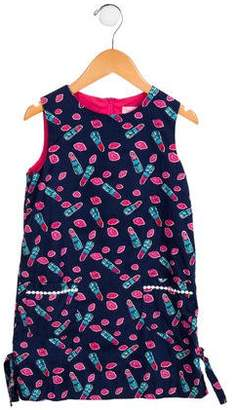 Lilly Pulitzer Girls' Lipstick Bow-Accented Dress