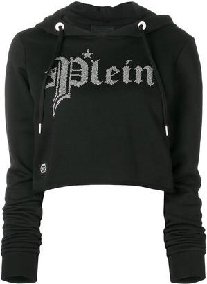 Philipp Plein gothic hooded sweatshirt