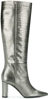 Marc Ellis embossed metallic boots