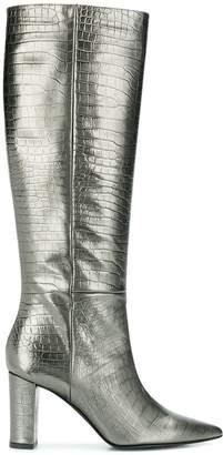 Marc Ellis embossed metallic boots