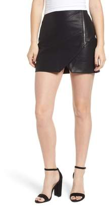Blank NYC BLANKNYC Faux Leather Zip Miniskirt