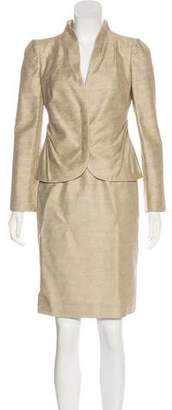 Valentino Silk-Blend Skirt Suit