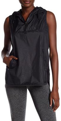 Ivy Park Reflective Print Hooded Sleeveless Jacket $115 thestylecure.com
