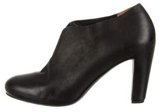 Roberto Del Carlo Leather Round-Toe Ankle Booties