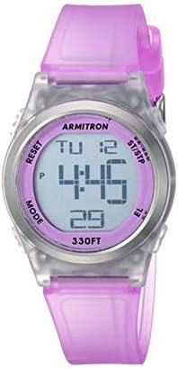 Armitron Sport Women's 45/7102TPR Digital Chronograph Translucent Matte Resin Strap Watch