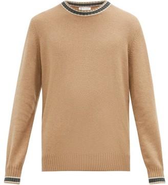 Brunello Cucinelli Striped Cashmere Sweater - Mens - Camel