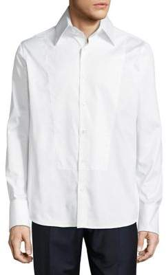 Karl Lagerfeld Paris Cotton Long Sleeve Button-Down Shirt