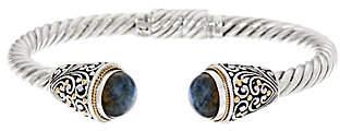 Artisan Crafted Sterling Silver/18K GoldGemstone Cuff