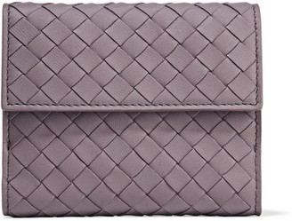 Bottega Veneta - Intrecciato Leather Wallet - Purple $550 thestylecure.com