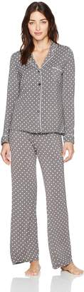 PJ Salvage Women's Modal Fashion Print 2PC PJ Set, Haute Spot-Charcoal, XL
