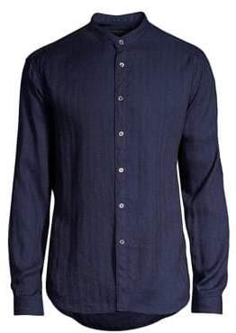 John Varvatos Slim Button-Front Shirt