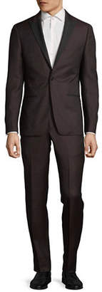 John Varvatos Peak Lapel Wool Suit