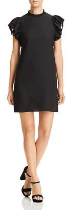 Kate Spade Ruffle Crepe Dress