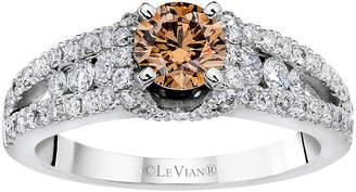LeVian CORP Grand Sample Sale by Le Vian Bridal Chocolate & Vanilla Diamonds Ring in 14k Vanilla Gold