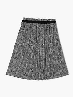 John Lewis & Partners Girls' Metallic Sparkly Skirt, Silver