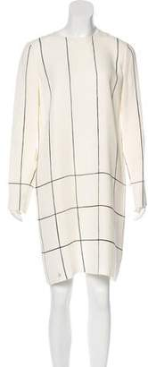 Tory Burch Striped Long Sleeve Dress
