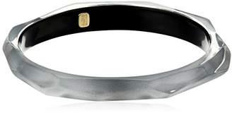 Alexis Bittar Faceted Grey Bangle Bracelet