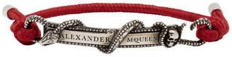 Alexander McQueen Burgundy Snake and Horse Bracelet
