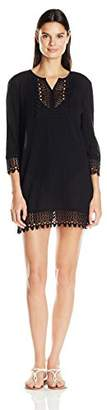 Jantzen Women's Crochet Trim Tunic Cover up $30.75 thestylecure.com