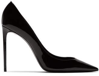 Saint Laurent Zoe Patent Leather Pumps - Womens - Black