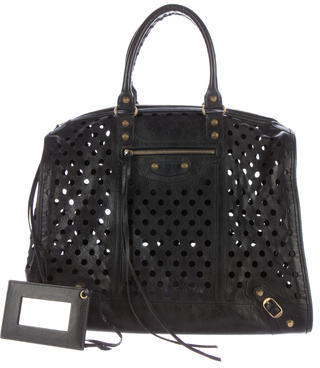 Balenciaga  Balenciaga Motocross Perforated Kraft Tote