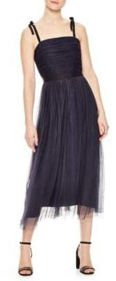 Sandro Bishop Pleated Bodice Tulle Dress