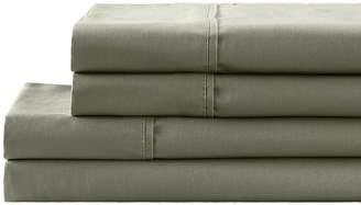 California Design Den by NMK 300 Thread Count Cotton Sateen Sheet Set - Green Machine