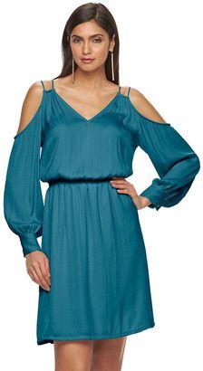 Women's Jennifer Lopez Cold-Shoulder Shift Dress $70 thestylecure.com