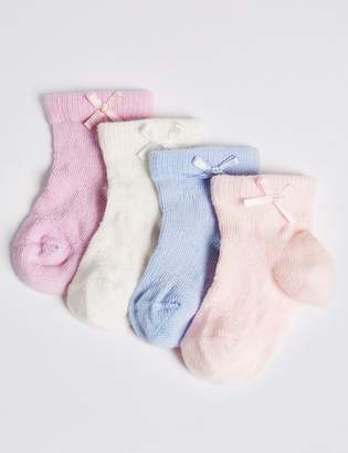 Marks and Spencer 4 Pairs of Baby Socks