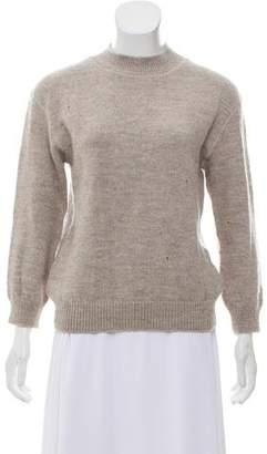 La Garçonne Moderne Distressed Wool Sweater w/ Tags