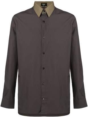 Fendi a contrast collar shirt