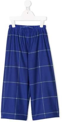 Il Gufo elasticated-waist check trousers