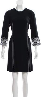 Wes Gordon Lace Trimmed Long Sleeve Dress w/ Tags