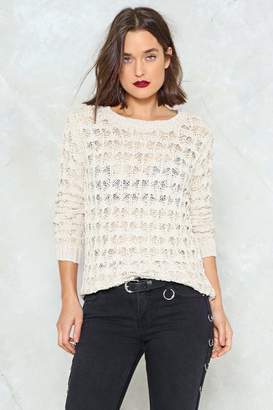 Nasty Gal You Asked For Knit Crochet Sweater